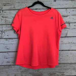 Adidas Bright Pink Short Sleeve Top